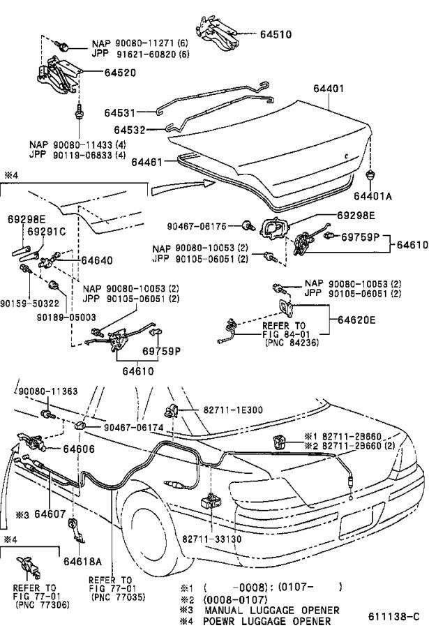Toyota Solara Cushion  For Luggage Compartment Door Panel